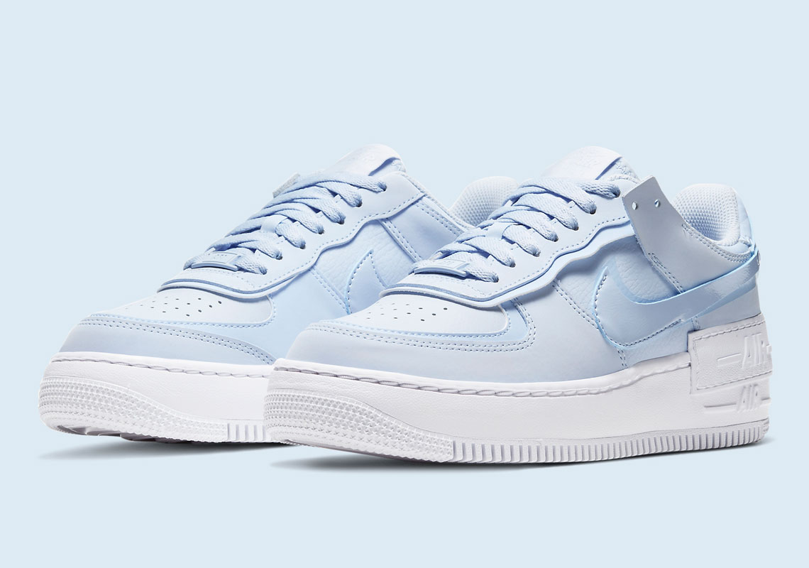 Nike Air Force 1 Shadow Hydrogren Blue Cv3020 400 Sneakernews Com Explore and buy the nike air force 1 premium 'just do it'. nike air force 1 shadow hydrogren blue