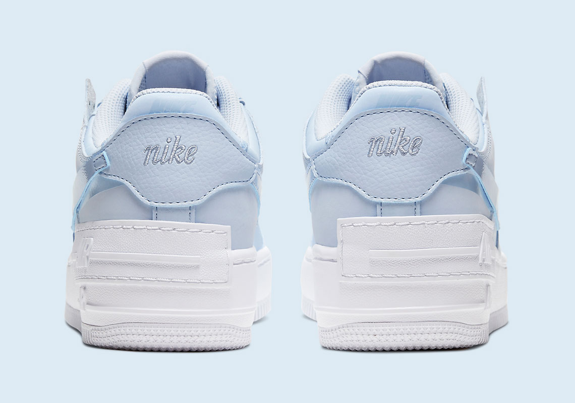 Nike Air Force 1 Shadow Hydrogren Blue Cv3020 400 Sneakernews Com It's layered with extra heel tabs that. nike air force 1 shadow hydrogren blue