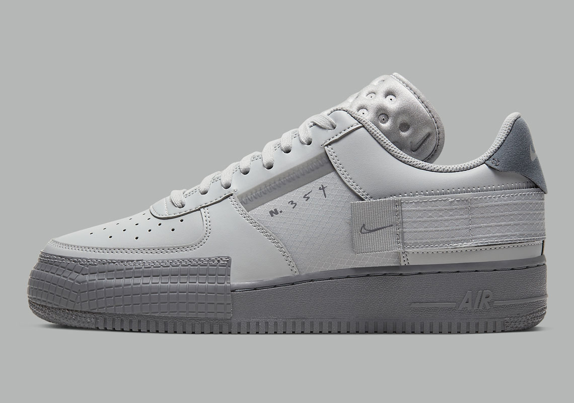Nike Air Force 1 Type Grey Fog CT2584 001 Crumpe
