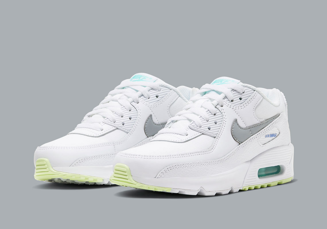 Nike Air Max 90 Kids White Orange Cz5868 100 Sneakernews Com