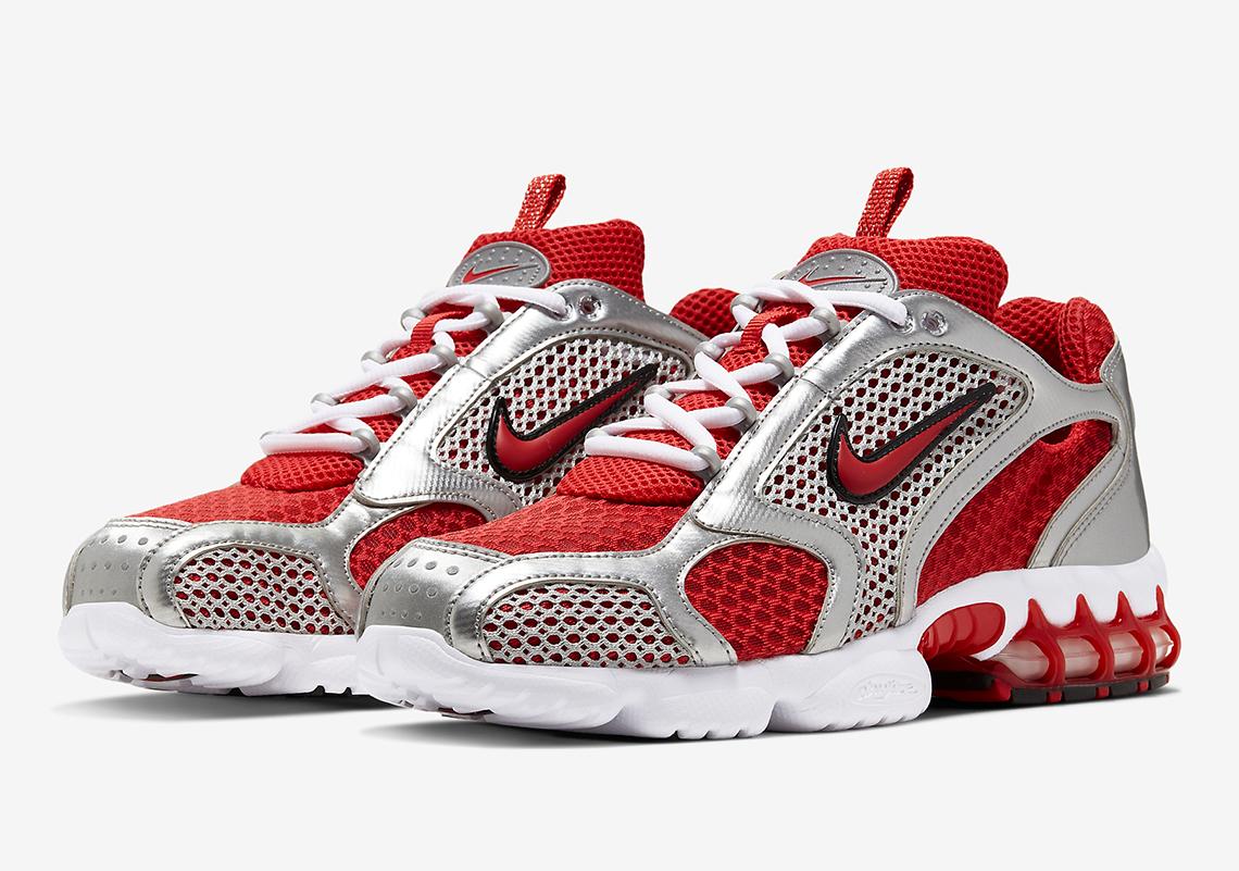 Nike Air Zoom Spiridon Cage 2 Gr.42,5 rot CJ1288 600 Schuhe Sneaker Running