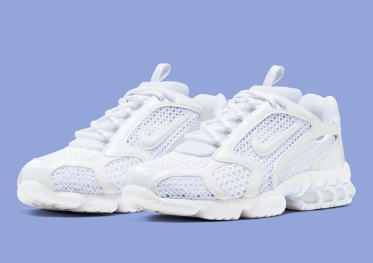 The Nike Zoom Spiridon Cage 2 Arrives In A Bright Triple White