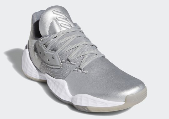 The adidas Harden Vol. 4 Gets A Matte Silver Look