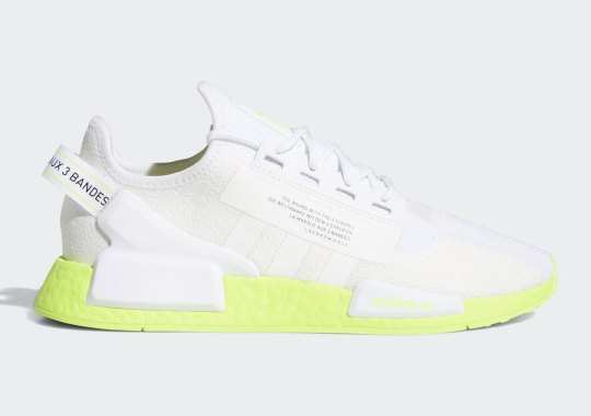 The Adidas NMD R1 V2 Pairs an Angelic White With Punchy Neon