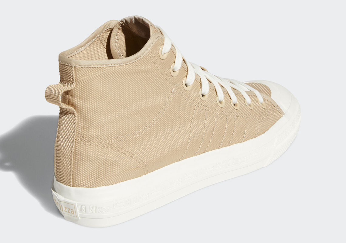 Mens Nizza Hi RF Pale Nude and Off White Shoes   adidas US