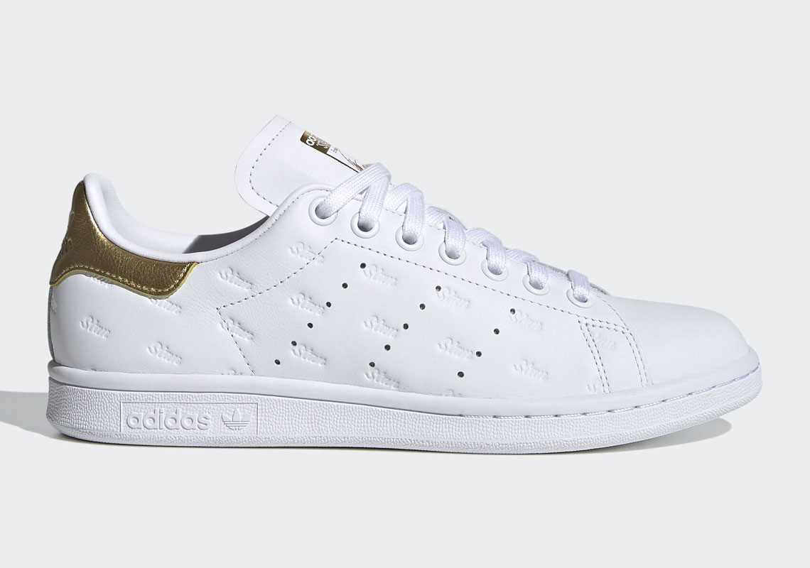 Hollywood Disperato metallo  adidas Stan Smith Silver Gold EF6853 EF6854 | SneakerNews.com