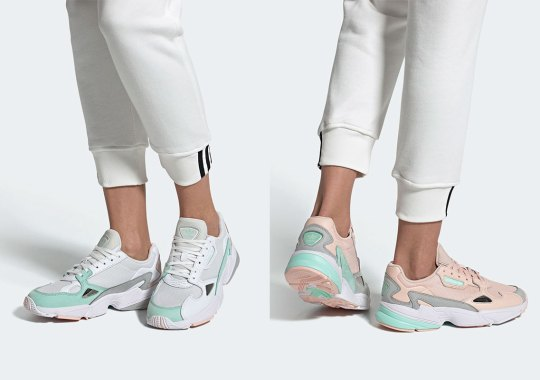 "The adidas Falcon Is Back In An ""Icey Pink"" And ""Clear Mint"" Blend"