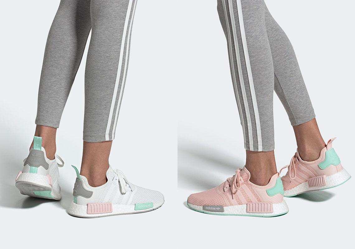 adidas NMD White Pink Mint FX7197