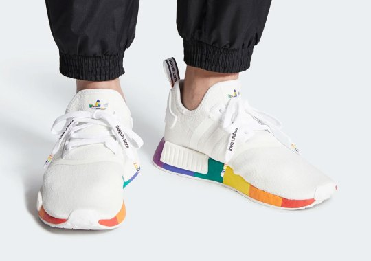 adidas Celebrates Pride Month With A Rainbow Sole NMD R1
