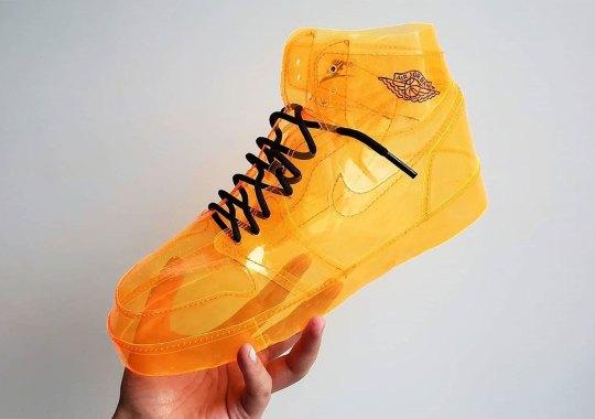 Air Jelly Jordan 1 Customs Made Entirely Of Translucent Orange Materials