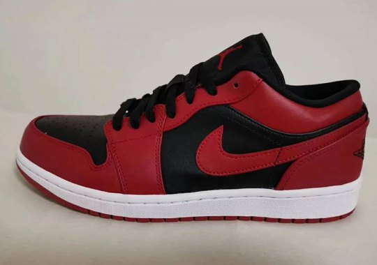 Air Jordan 1 Low Borrows The '85 Varsity Red Colorblocking