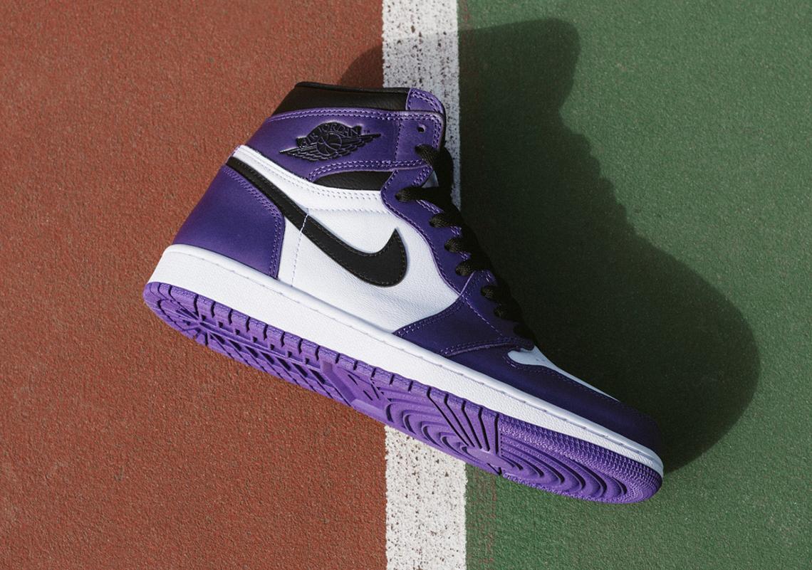 Air Jordan 1 Court Purple 555088 500 Sneakernews Com