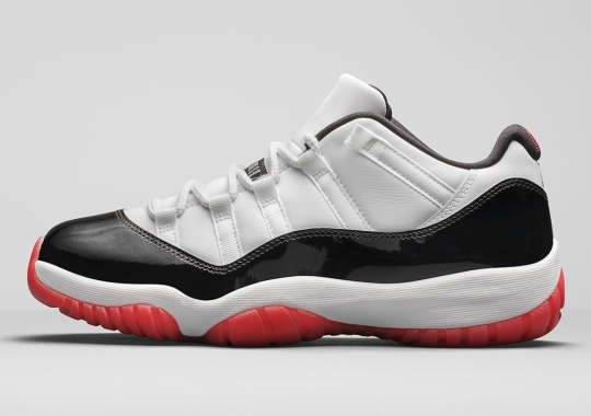 "Jordan Brand Officially Combines ""Concord"" And ""Bred"" For The Air Jordan 11 Low"