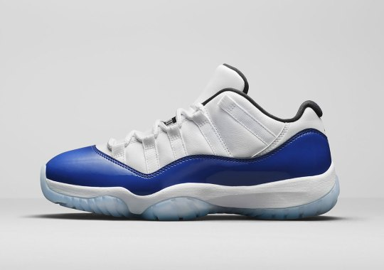"""Official Images Of The Air Jordan 11 Low """"Concord Sketch"""""""