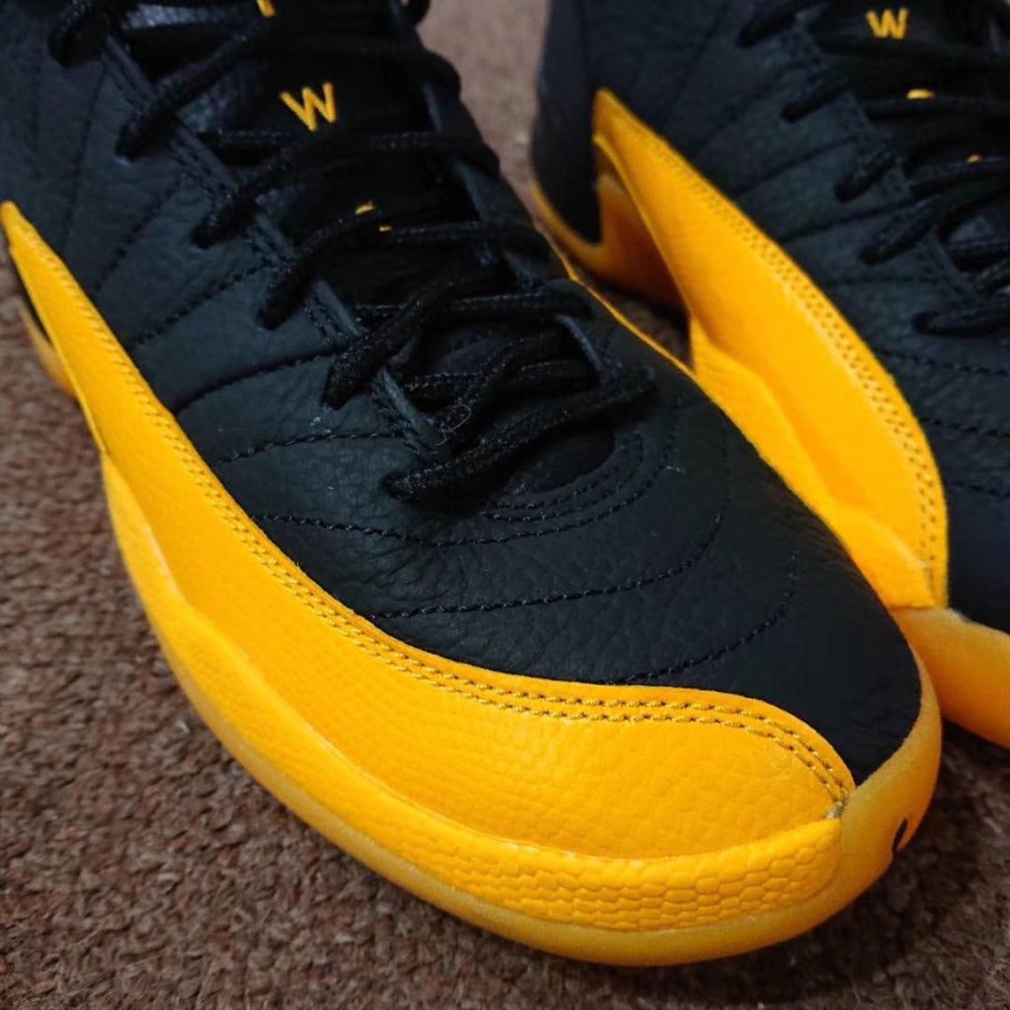 Air Jordan 12 Black University Gold Release Info Sneakernews Com