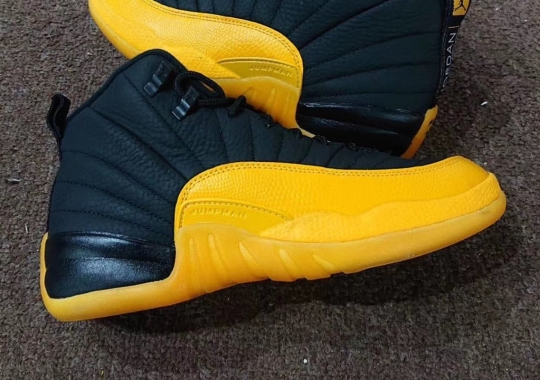First Look At The Air Jordan 12 Retro In Black And University Gold