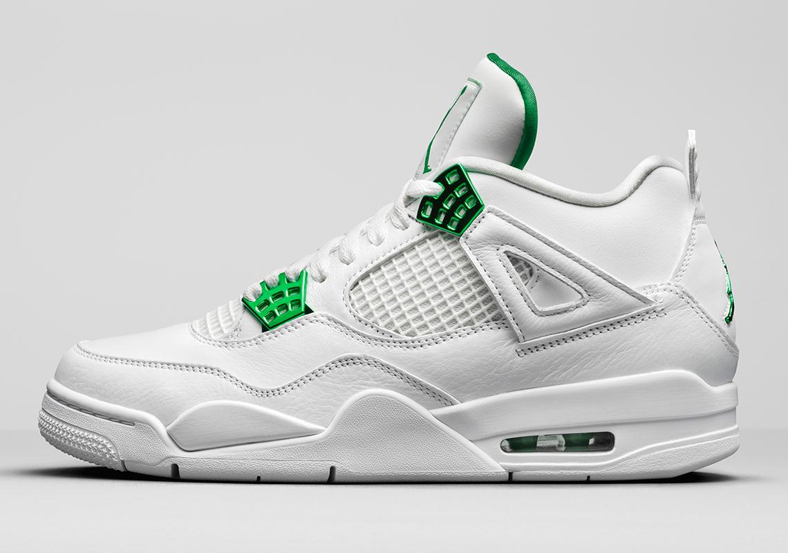 air jordan 4 blanche et verte