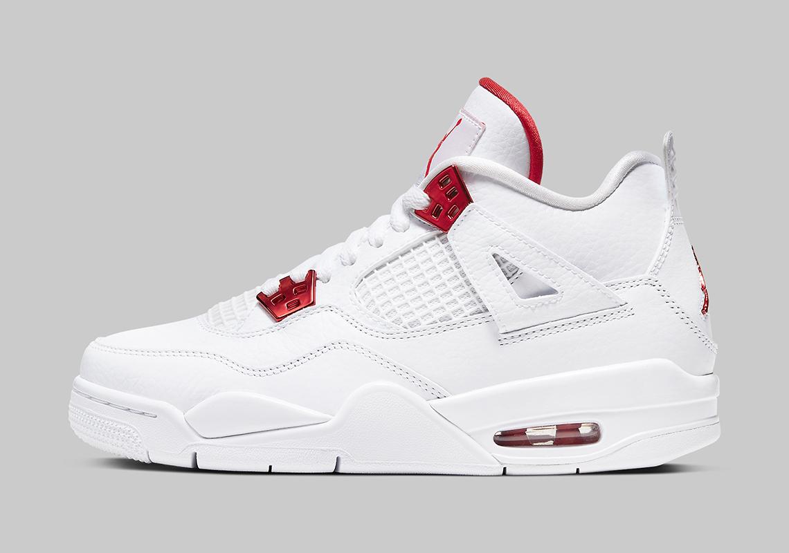 Air Jordan 4 Metallic Red Kids 408452