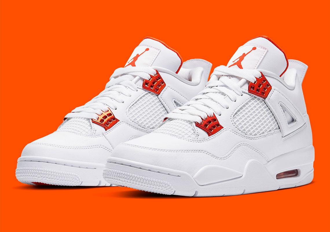 air jordan 4 blanche et rouge