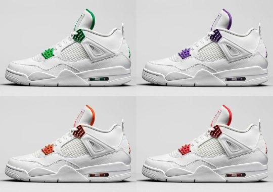 "Jordan Brand Officially Unveils The Air Jordan 4 ""Metallic Pack"""