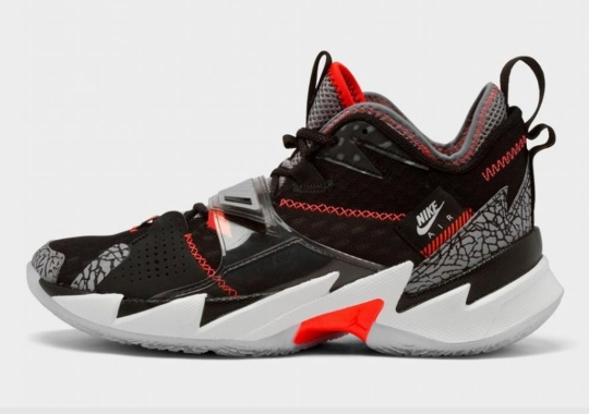 "The Jordan Why Not Zer0.3 Borrows The Air Jordan 3's ""Black/Cement"""