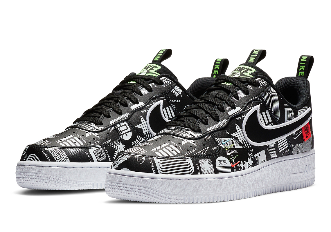 Corrupto Decrépito Gigante  Nike Air Force 1 Low Worldwide Black White | SneakerNews.com