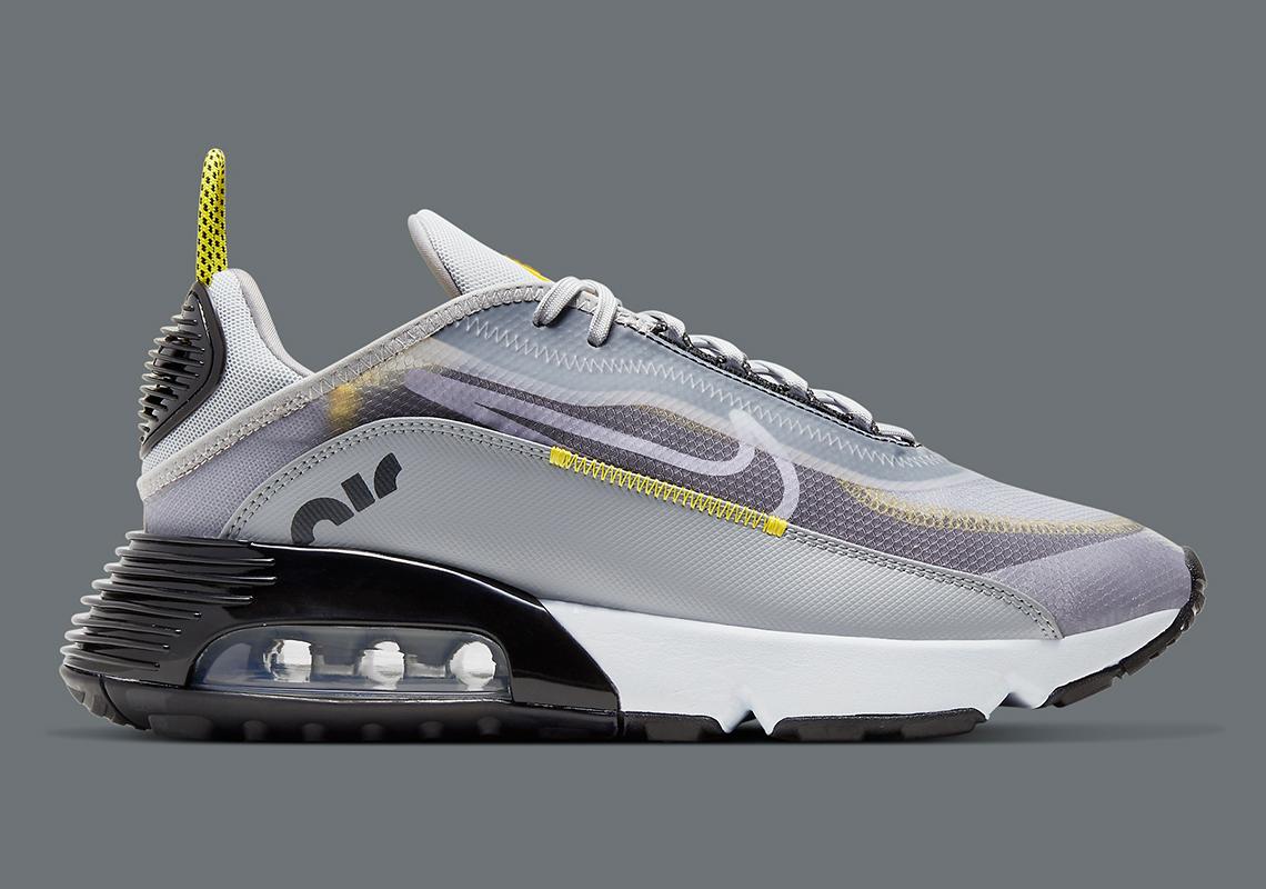 Nike Air Max 2090 Grey Yellow Bv9977 002 Sneakernews Com