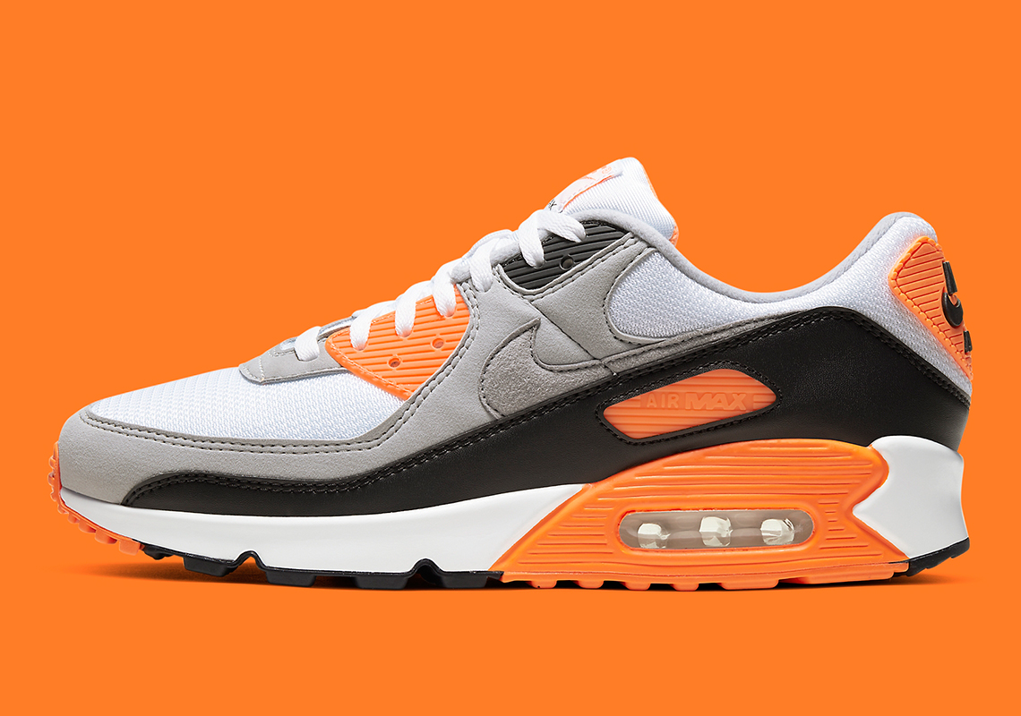 air max 90 blanche et orange