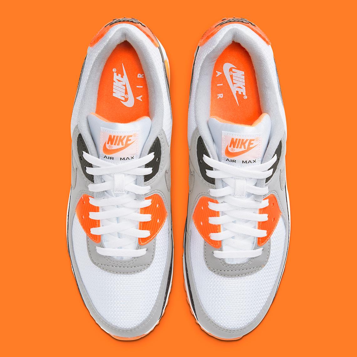 Nike Air Max 90 Orange White Black CW5458-101 | SneakerNews.com