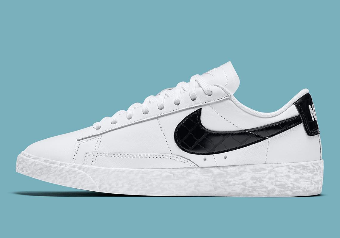 Nike Blazer Low White Black Croc BQ0033