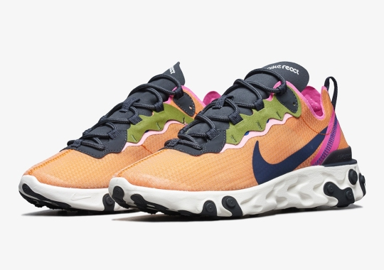 "The Nike React Element 55 SE Arrives in ""Magma Orange"""