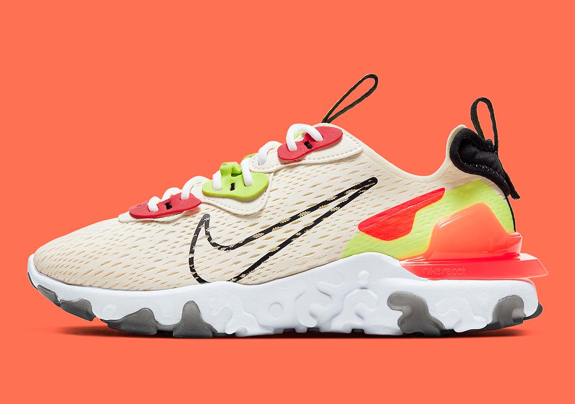 Nike React Vision Orange Volt CI7523-100 | SneakerNews.com