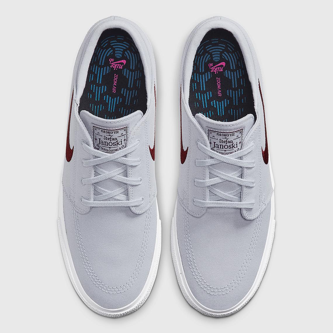 Nike SB Stefan Janoski Grey Maroon AR7718-009 | SneakerNews.com