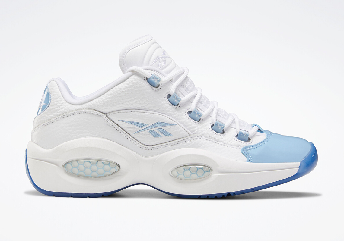 Reebok Question Patent Low GS Allen Iverson Fluid Baby Blue Toe Size 6Y