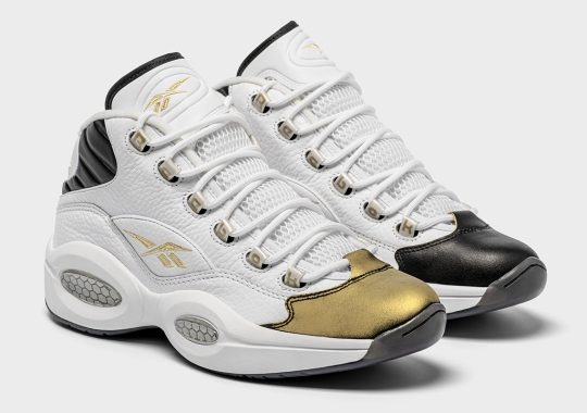 "Reebok Question ""Respect My Shine"" Features Rub-Away Black Toe With Hidden Gold"