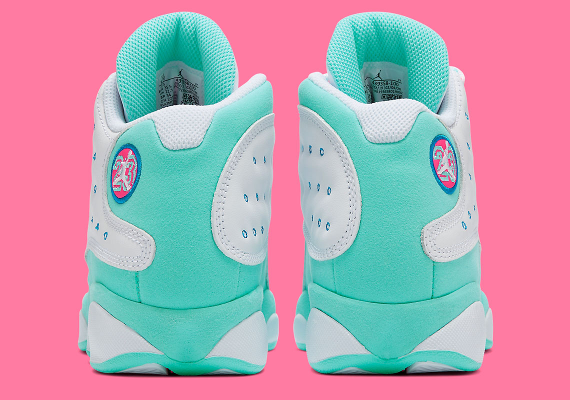 Air Jordan 13 Aurora Green Kids 439358 100 Sneakernews Com