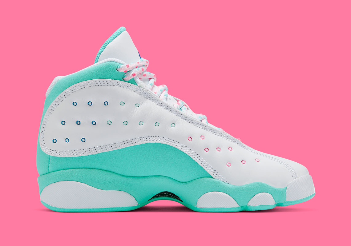 air jordan 13 gs aurora green price