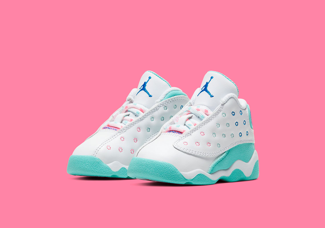 Air Jordan 13 Aurora Green Kids 439358 100 Sneakernews Com