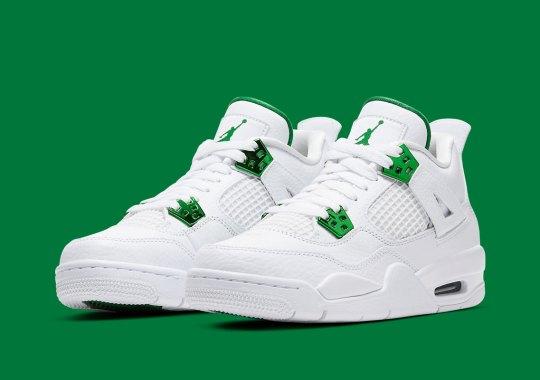 "The Air Jordan 4 ""Metallic Green"" Is Releasing In Kids Sizes"