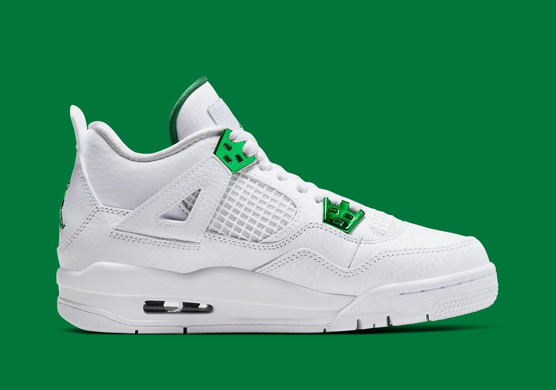 Air Jordan 4 Kids Metallic Green 408452-113 Release   SneakerNews.com