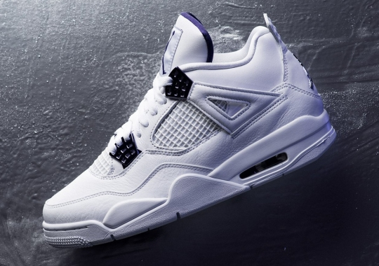 """The Air Jordan 4 """"Metallic Purple"""" Is Available Now"""
