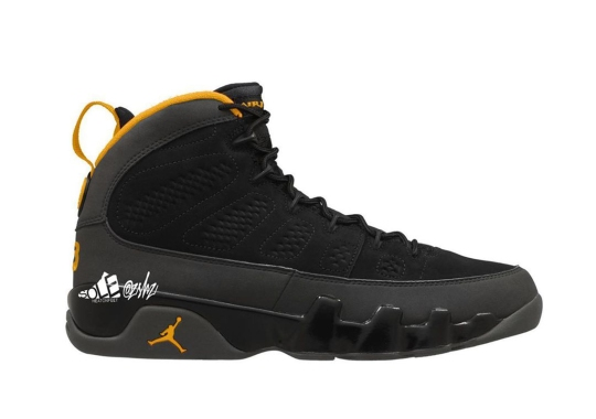 The Air Jordan 9 To Release In Dark Charcoal And University Gold In Early 2021