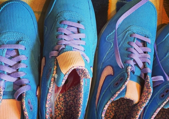 Edison Chen Reveals A Corduroy Nike Air Max 1 With Floral Lining