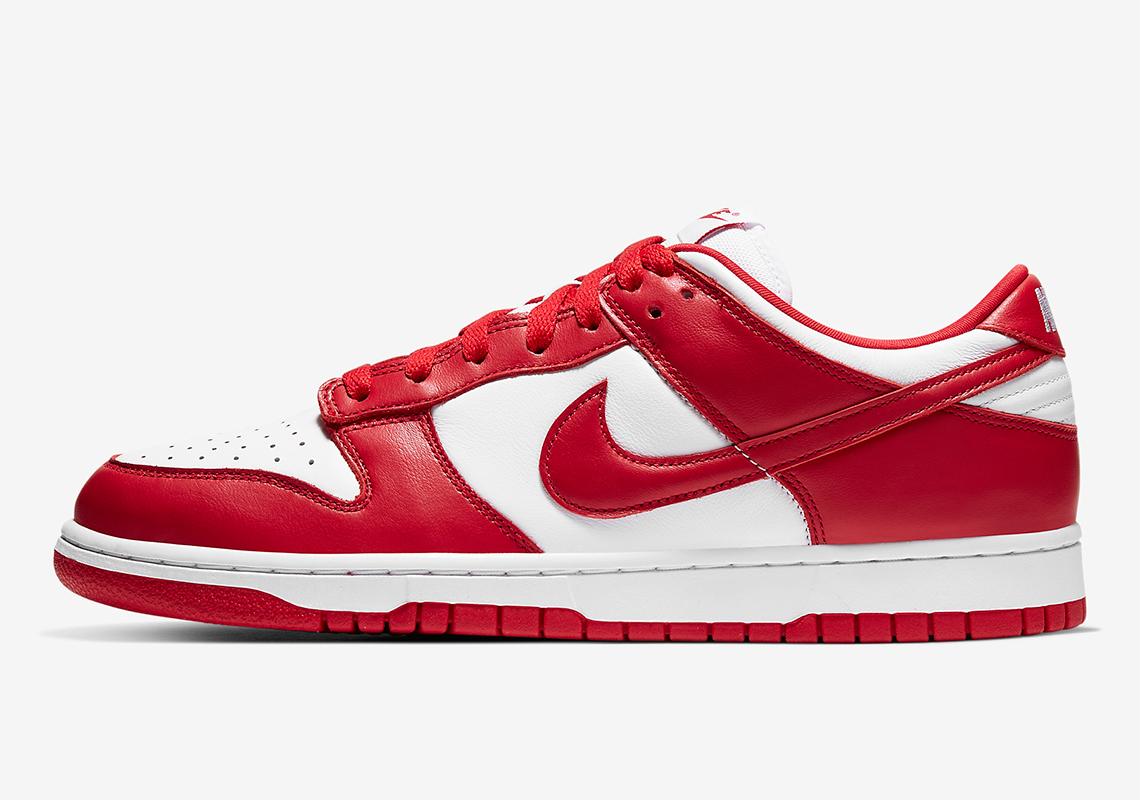 Nike Dunk Low University Red White CU1727-100 | SneakerNews.com