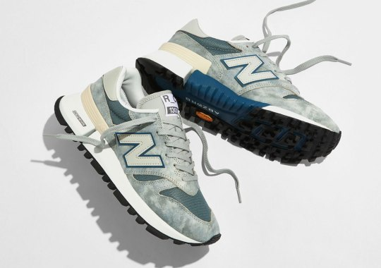 """New Balance Tokyo Studio Delivers The R_C1300 In """"Washed"""" Grey And Blue"""