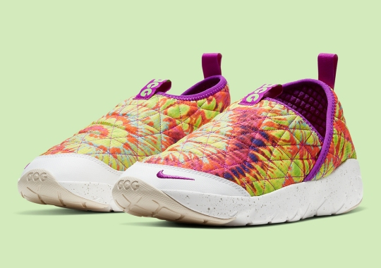 Tie-Dye Prints Dress Up The Nike ACG Moc 3.0 Right In Time For Summer