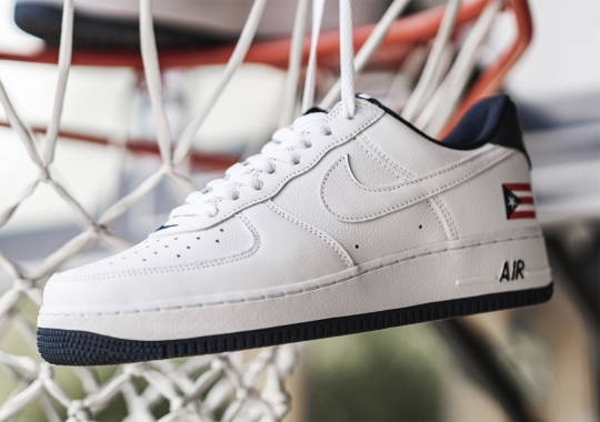 """Nike To Bring Back The Air Force 1 """"Puerto Rico"""" With White Swooshes And Navy Lining"""