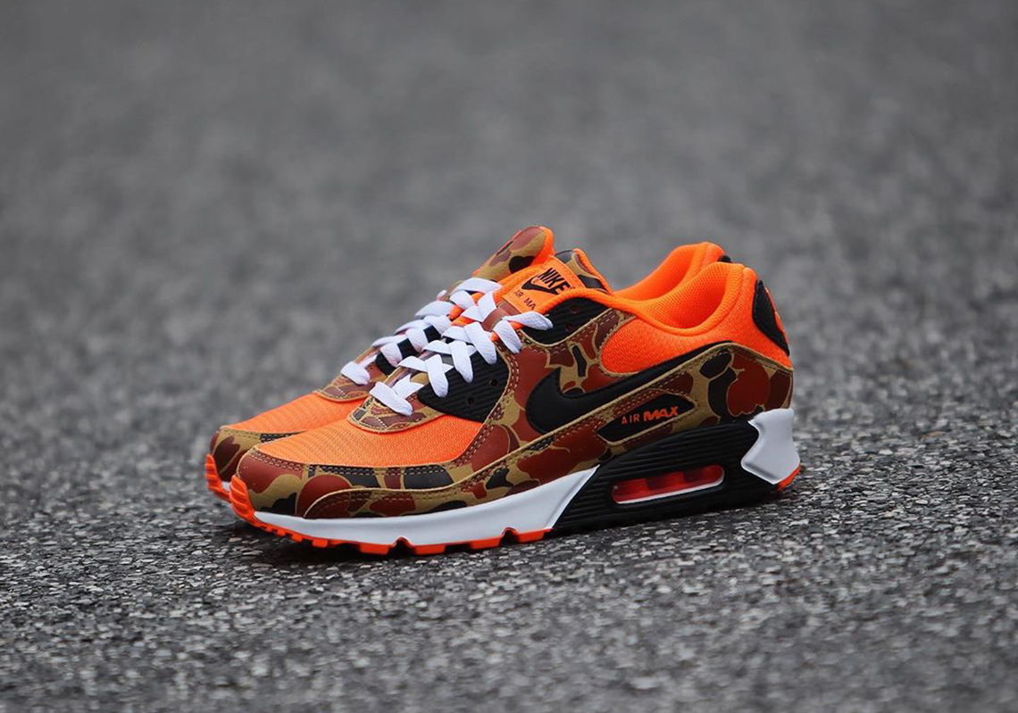 Nike Air Max 90 Orange Duck Camo Release Info   SneakerNews.com