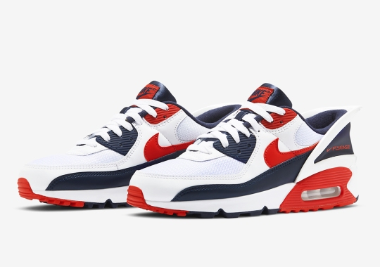 Nike's Easy-Entry Air Max 90 FlyEase Arrives In USA Colors