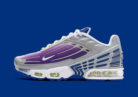 """Nike Air Max Plus 3 """"Purple Nebula"""" Releases Just For Kids"""